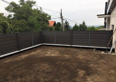 Antracit Zárt WPC kerítésrendszer, Budapest, 3. kerület