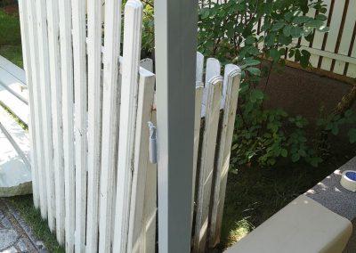 Antracit Simple WPC kerítés, Törökbálint