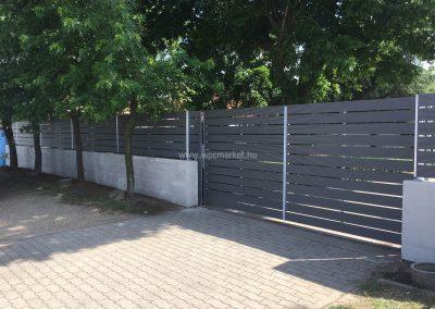 Világoszürke Premium Classic WPC kerítés, Budapest, 18. kerület