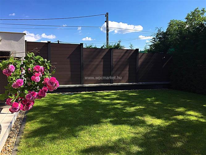 Barna zárt kerítésrendszer Budaörs