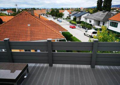 Világosszürke Premium Classic WPC teraszburkolat, Sopron