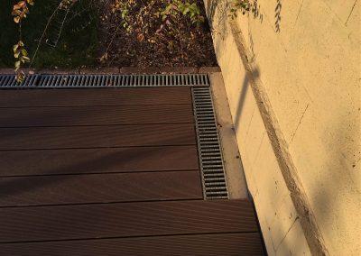 Sötétbarna Premium Classic WPC terasz burkolat, Budapest, 22. kerület