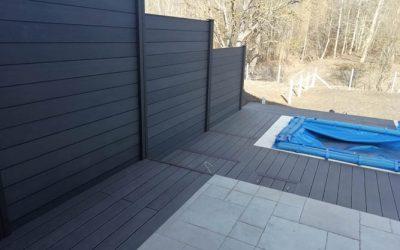 Kávébarna Premium Classic terasz, Antracit kerítésrendszer