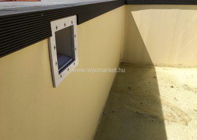 Antracit Premium Classic WPC terasz burkolás, Nagytarcsa