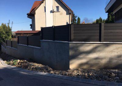 Antracit WPC kerítés és erkély