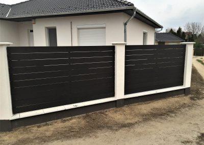 Antracit Simple WPC kerítés, Kecskemét