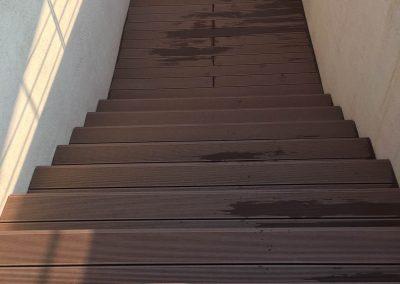 Sötétbarna Premium Classic WPC terasz burkolat, Budapest, 16. kerület