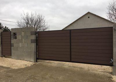 Zárt WPC kerítésrendszer, Szada