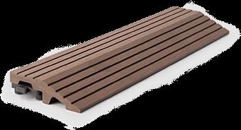 WPC Klikk teraszburkolat barna élzáró