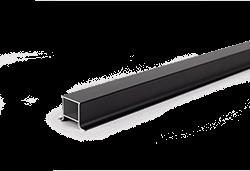 Antracit (sötétszürke) alumínium oszlopzáró profil WPC kerítéshez