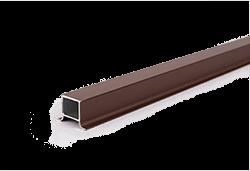Sötétbarna alumínium oszlopzáró profil WPC kerítéshez