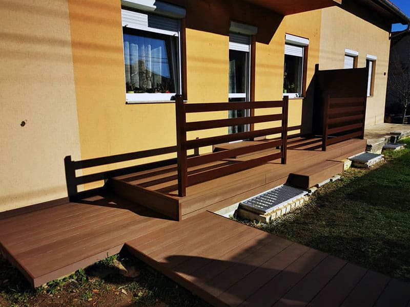 WPC Woody barna teraszburkolati rendszer