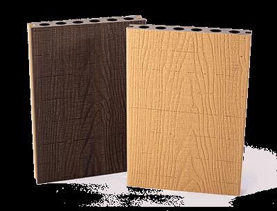 Real Wood Co-extrudált WPC elem, sötétbarna-tölgy