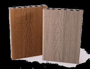 Real Wood Co-extrudált WPC elem, világosbarna-világosszürke